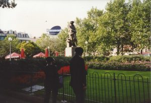 The statue of Rembrand at the Rembrand square
