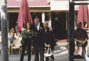 On the photograph with a War Veteran