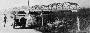 Grave. Bridge across the river Maas