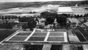 """Molenhoek. Vanished (temp) Cemetery behind party centre """"de Raaf"""""""