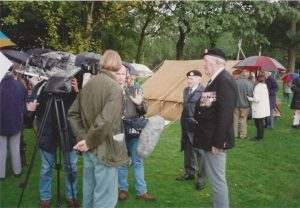 (2) Final filming at the authentic British army camp at the Goffert Park