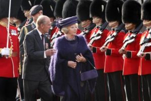 Queen Beatrix and Prince Philip inspecting the Guards